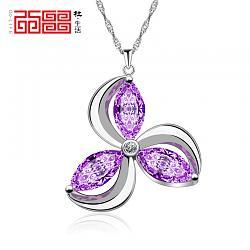 Украшения из камня-docala-925-pure-silver-wave-chain-necklace-female-pendant-magic-font-b-amethyst-b-font-2013-jpg