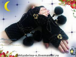 Перчатки с укороченными пальцами - гловелетты-5023717774-aksessuary-mitenki-nochnoe-randevu-n0083-jpg