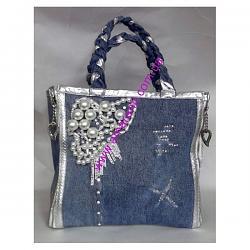 Джинсовые сумки-sumka-dzhinsovaya-bruno-amaranti-2089-jeans-perle-jpg