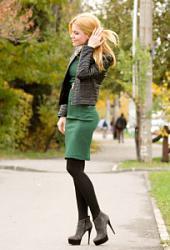 Черные колготки - дурной тон или признак стиля??-emerald-green-dress-204x300-jpg