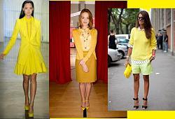 Сочетание разных оттенков цвета в одежде.-dzelt-jpg