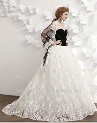 Чёрное свадебное платье - безвкусица или вызов?-black_pleat_bodice_lace_skirt_bridal_wedding_dress_2013-jpg