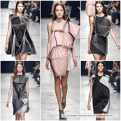 Платья в технике оригами-christopher-kane-printy-oseni-2014-1-jpg