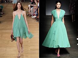 Мятный цвет в весенне-летней одежде-chloe_tracy_reese-jpg