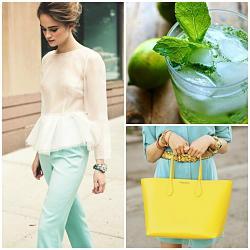 Мятный цвет в весенне-летней одежде-collage49-jpg