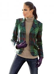 Одежда в клетку - новый тренд сезона-karo-blazer-gruen-karo-6518758-jpg