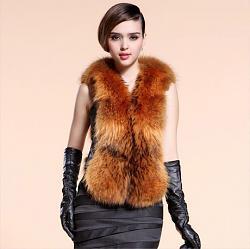 Натуральный мех в одежде-free-shipping-2013-new-fashion-women-s-raccoon-fur-vest-atutumn-winter-genuine-sheepskin-lea-jpg