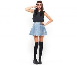 Как вы относитесь к лоферам, оксфордам, монкам и другой обуви подобного типа?-motel-rocks-vintage-denim-circle-skirt-3-jpg