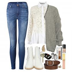 Какую обувь носить с джинсами?-belye-botilony-12-jpg