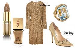 Золотые туфли - с чем носить-11-7-jpg