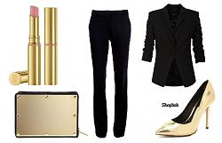 Золотые туфли - с чем носить-11-8-jpg