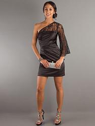 Коктейльные платья-brown-long-sheer-sleeve-asymmetrical-neckline-mini-skirt-cocktail-dresses-sg1996-02-jpg
