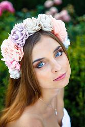 Ободки, веночки для волос-obodok-s-cvetami-ukrainka-jpg