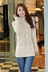 С чем носить свитера крупной вязки?-hh-426083sweater-beige-5-42608327-jpg