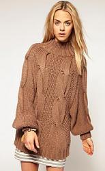 С чем носить свитера крупной вязки?-sweater7-jpg