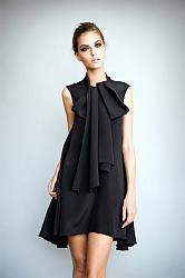 платья на выпуск для девушки с маленькими грудями.-korotkoe-chernoe-vechernee-plate_7fef1-jpg