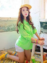 Салатовая блузка - с каким цветом юбки совместима?-596-letnyaya-salatovaya-rubashka-083571-jpg