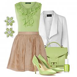 Салатовая блузка - с каким цветом юбки совместима?-salatovye-tufli-4-jpg