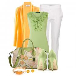 Салатовая блузка - с каким цветом юбки совместима?-salatovye-tufli-14-jpg