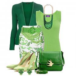 Салатовая блузка - с каким цветом юбки совместима?-salatovye-tufli-15-jpg