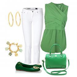 Салатовая блузка - с каким цветом юбки совместима?-s-chem-nosit-zelenye-baletki-2-jpg