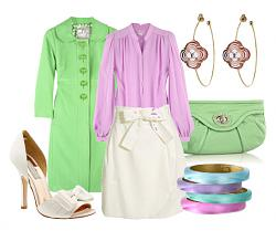 Салатовая блузка - с каким цветом юбки совместима?-zelenyi-cvet-sochetani-2-jpg