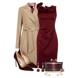 с чем носить бордовое платье-1-1-jpg