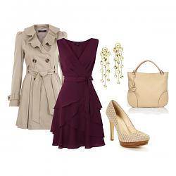 с чем носить бордовое платье-1-2-jpg