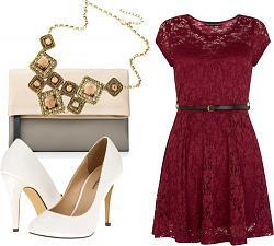 с чем носить бордовое платье-1-5-jpg