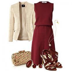 с чем носить бордовое платье-1-6-jpg