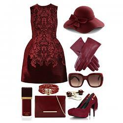 с чем носить бордовое платье-1-8-jpg