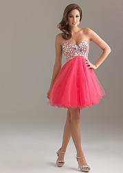 Воздушное платье с юбкой туту-6410f-coral_2-jpg