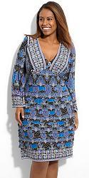 Шикарные праздничные платья для полных женщин-8-jpg