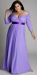 Шикарные праздничные платья для полных женщин-26-jpg