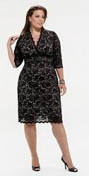 Шикарные праздничные платья для полных женщин-186-jpg