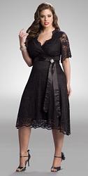 Шикарные праздничные платья для полных женщин-187-jpg