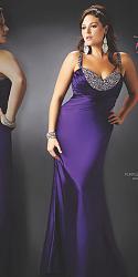 Шикарные праздничные платья для полных женщин-51-jpg