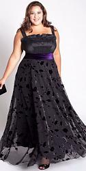 Шикарные праздничные платья для полных женщин-71-jpg