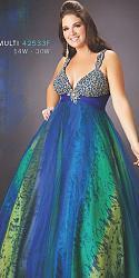 Шикарные праздничные платья для полных женщин-74-jpg