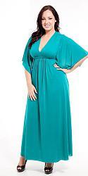 Шикарные праздничные платья для полных женщин-82-jpg
