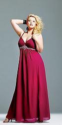 Шикарные праздничные платья для полных женщин-113-jpg