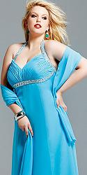 Шикарные праздничные платья для полных женщин-122-jpg