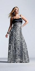 Шикарные праздничные платья для полных женщин-126-jpg
