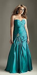 Шикарные праздничные платья для полных женщин-127-jpg