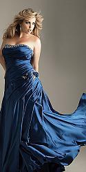 Шикарные праздничные платья для полных женщин-131-jpg
