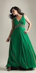 Шикарные праздничные платья для полных женщин-133-jpg