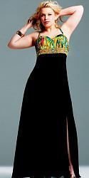 Шикарные праздничные платья для полных женщин-159-jpg