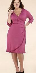Шикарные праздничные платья для полных женщин-167-jpg