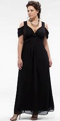 Шикарные праздничные платья для полных женщин-168-jpg