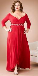Шикарные праздничные платья для полных женщин-173-jpg